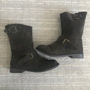 Report Brown Suede Slouchy Boots